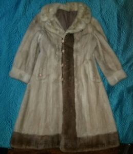 Winter fur coat Mink and Sable, Made in Russia