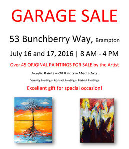 Garage Sale all Original Paintings for Sale