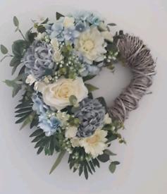 Flower wreath for door