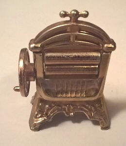 Vintage Doll House Furniture - Miniature Wringer Washer