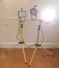 Work lights, halogen bulb, collapsible and height adjustable