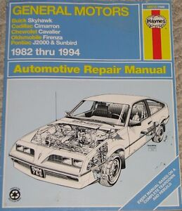 Haynes GM 1982 - 1994 Automotive Repair Manual Book