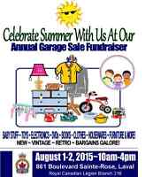 Celebrate with us! Annual Summer Garage Sale-Fundraiser