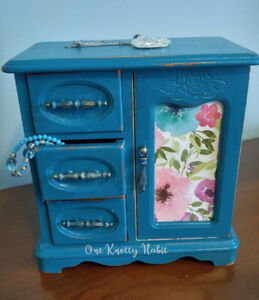 Teal and Copper Vintage Jewelry Box