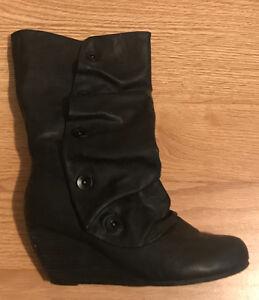 Woman's black boots
