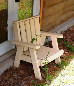 Kids Homemade Wooden Lawn Chairs