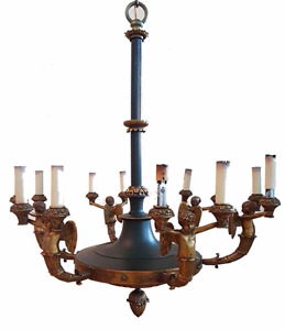 An Antique Chandelier / Lustre / Candelabra - Empire style