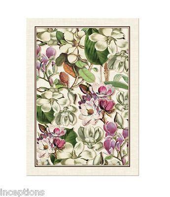 Michel Design Works Magnolia Cotton Kitchen Towel, Purple