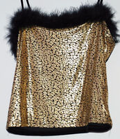 Gold Sparkly top with straps, M medium