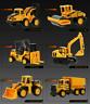 6PCS Kids Truck Mini Metal Car Series Toy Truck Excavator Educational Xmas Gifts