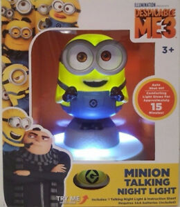 NEW: Despicable Me 3 Talking Minion Night Light - $35 (Cash, NO