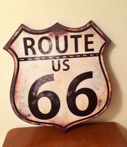 """⭐️NEUF Affiche ROUTE 66 17""""x16"""""""