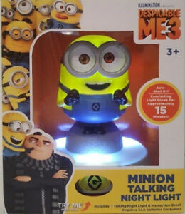 NEW: PAW PATROL (SKYE,CHASE) OR MINION NIGHT LIGHT