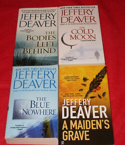 4x Jeffery Deaver paperback novels