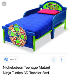 Tmnt  3D toddler bed and mattress