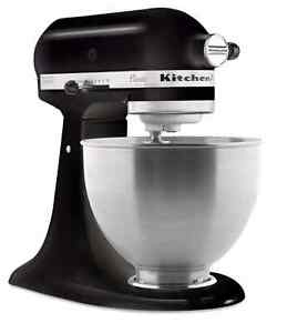 kitchen Aid K45SSOB Classic 4.5 qt stand mixer onyx black