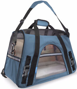OxGord Airline Approved Pet Carrier w/ Fleece Bed For Dog & Cat