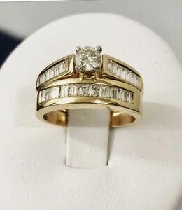 14k gold 1.32ct. diamond engagement ring set*Certified at $8,800