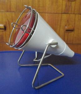1970s MCM Philips Infraphil Desktop Infrared Heat / Healing Lamp