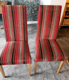 Next fabric high back chairs
