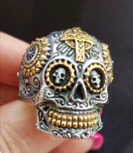 Candy Skull Stainless Steel Ring