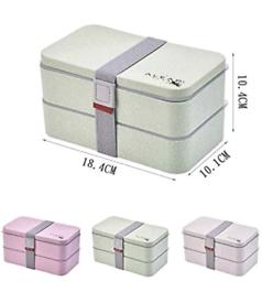 Eco Friendly Bento Box - 2 Compartment BPA Free Long Lasting Lunch Box