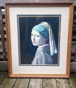 Girl with a Pearl Earring by Vermeer, Professionally Framed Peterborough Peterborough Area image 1