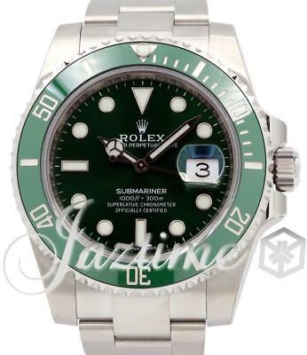 Rolex Submariner Hulk 116610LV Anniversary 40mm Green Ceramic SS BRAND NEW 2019