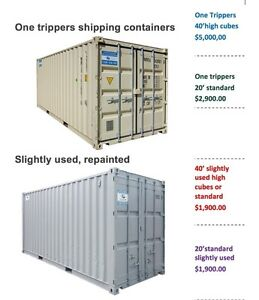1Rare 45 Foot Sea Container High Cube One tripper and 20 & 40 HC