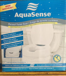 NEW Raised Toilet Seat and Toilet Safety Rails