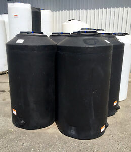 Black Vertical Water Storage Tank - 165 Gallon
