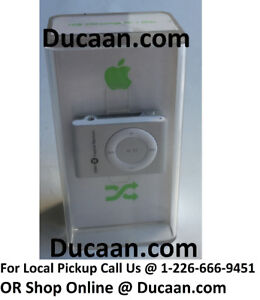NEW Apple iPod Shuffle 2nd Generation Silver 1GB A1204