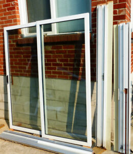 6 ft   Sliding  Glass  Patio  Door w  Sliding Screen Door