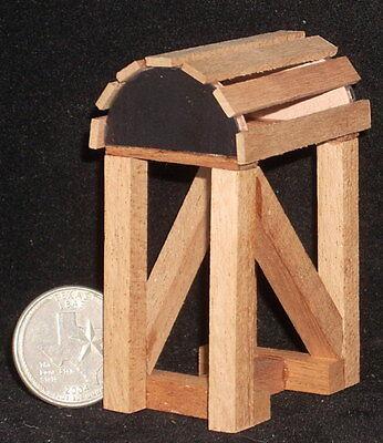 Dollhouse Miniature Western Black Leather Horse Saddle Stand 1:12 Cowboy Western