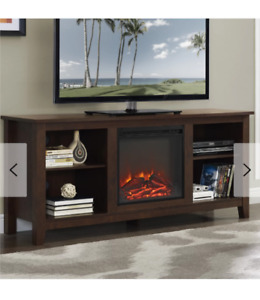 TV stand with Fireplace **BRAND NEW, IN BOX**