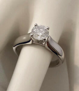 14k white gold .75ct. diamond engagement ring *Appraised $6,400