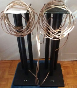"Two awesome steel VTI 28"" speaker stands"