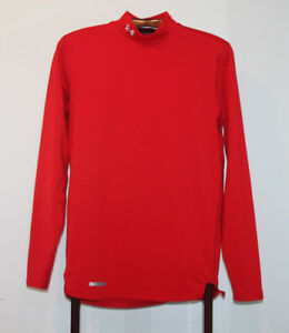 UNDER ARMOUR COLD GEAR FITTED MOCK TURTLENECK RED SIZE ADULT MED