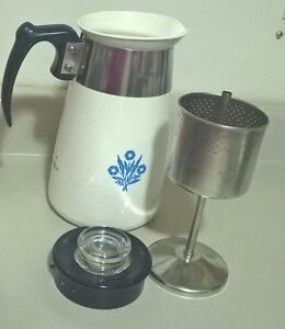 Vintage Corning Ware Cornflower Coffee Pot