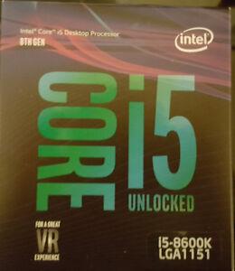 New Intel i7 8700K, i5 8600k LGA 1151 Coffee Lake warranty