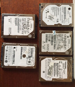 USED SATA LAPTOP HARD DRIVES