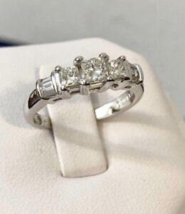 14k gold princess cut diamond engagement ring/Appraised - $5,200