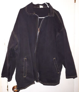 Exhaust Jeans black jacket, size Large but fits more like 2x-3x
