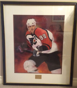 Signed Eric Lindros 88 Painting - 1995 CFTO Sick Kids Telethon