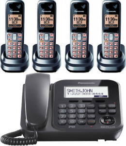 Panasonic kx-tg4771c corded phone with answering System and 4 ha