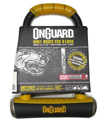 "OnGuard Bulldog 8010C Combination U-lock Combo Bike Urban 9/"" x 4.5/"" /& Bracket"