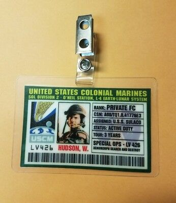 Aliens Id Badge-United States Colonial Marines Hudson Kostüm Cosplay ()