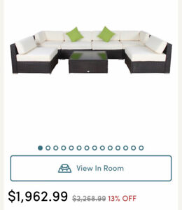 Outdoor sectional 7 piece with table