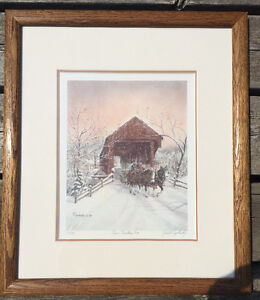 """Gerald Topolinsky """"Our Christmas Tree""""  Framed Signed 77/490 London Ontario image 1"""