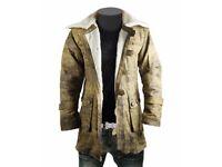 bane trench coat shearling